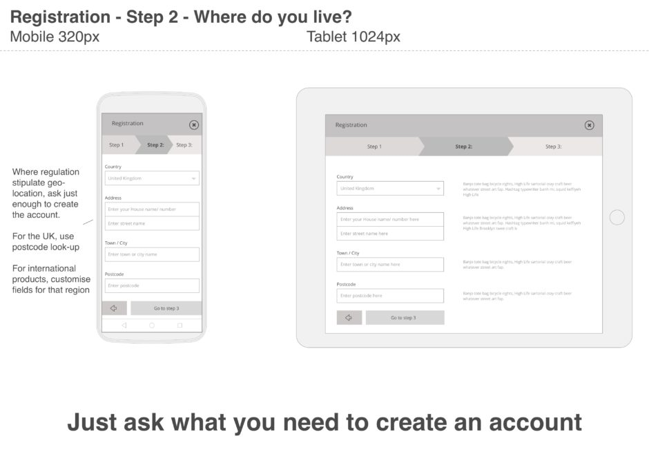 Ask for just what you need in order to create the account; you can always ask about other things later.